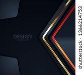 black background light with... | Shutterstock .eps vector #1366214753