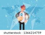 customer relationship...   Shutterstock .eps vector #1366214759