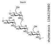 skeletal formula of starch.... | Shutterstock .eps vector #1366219880