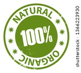natural organic 100 percent...   Shutterstock . vector #1366223930