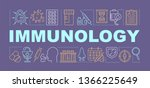 immunology word concepts banner....
