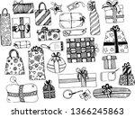seamless vector draw pattern... | Shutterstock .eps vector #1366245863