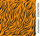 seamless pattern with tiger skin | Shutterstock .eps vector #1366247606