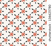 seamless pattern with flowers... | Shutterstock .eps vector #136625780