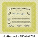 yellow diploma template or... | Shutterstock .eps vector #1366262780