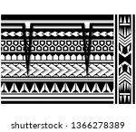 polynesian tattoo sleeve... | Shutterstock .eps vector #1366278389