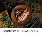 iberian pork chop  grilled and... | Shutterstock . vector #1366278413