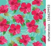 seamless floral pattern  hand... | Shutterstock .eps vector #136629953
