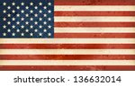 vintage style flag of the... | Shutterstock .eps vector #136632014