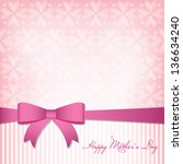 happy mother's day card | Shutterstock .eps vector #136634240