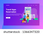 web page header travel apps... | Shutterstock .eps vector #1366347320