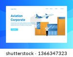 web page header aviation... | Shutterstock .eps vector #1366347323