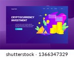 web page header cryptocurrency... | Shutterstock .eps vector #1366347329