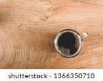 top view of clear glass coffee... | Shutterstock . vector #1366350710