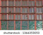 large long windows in a large... | Shutterstock . vector #1366353053