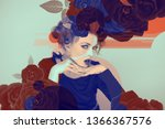 eyecatching beautiful woman...   Shutterstock . vector #1366367576