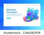 web page header badminton... | Shutterstock .eps vector #1366382939