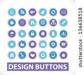 design circle website buttons ...   Shutterstock .eps vector #136638518