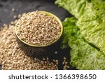 croup green buckwheat on a dark ... | Shutterstock . vector #1366398650