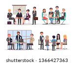 office workers at business... | Shutterstock . vector #1366427363
