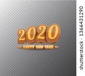 2020 happy new year creative... | Shutterstock .eps vector #1366431290