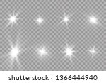 glow light effect. starburst... | Shutterstock .eps vector #1366444940