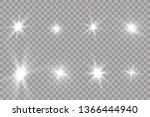 glow light effect. starburst... | Shutterstock .eps vector #1366444940