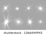 glow light effect. starburst... | Shutterstock .eps vector #1366444943