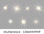 glow light effect. starburst...   Shutterstock .eps vector #1366444949