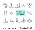professional icons. line icons... | Shutterstock .eps vector #1366448639