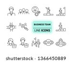 business team icons. line icons ... | Shutterstock .eps vector #1366450889