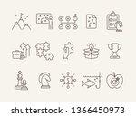 advanced training icon set.... | Shutterstock .eps vector #1366450973
