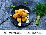 arancini. traditional italian...   Shutterstock . vector #1366465616