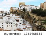 town near cadiz with dwellings...   Shutterstock . vector #1366468853