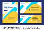 vector set of business template ... | Shutterstock .eps vector #1366492163