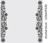 vector vintage floral ...   Shutterstock .eps vector #136649330