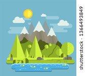 most satisfactory nature scene...   Shutterstock . vector #1366493849