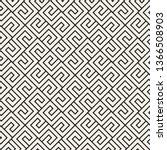 vector seamless stylish pattern.... | Shutterstock .eps vector #1366508903