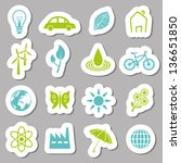 environment stickers | Shutterstock .eps vector #136651850