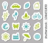 environment stickers | Shutterstock .eps vector #136651850