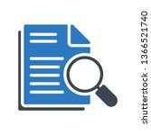 document search glyph double... | Shutterstock .eps vector #1366521740