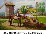 Oil Painting  Rural Landscape....
