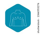 torso marked with lines for... | Shutterstock .eps vector #1366553276