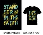 stand firm in the faith... | Shutterstock .eps vector #1366556729