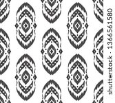 ikat seamless pattern. fancy... | Shutterstock .eps vector #1366561580