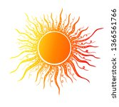 abstract stylized sun. vector | Shutterstock .eps vector #1366561766