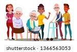 caregivers  volunteers ... | Shutterstock .eps vector #1366563053