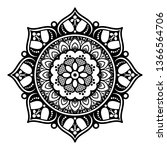 vector mandala for coloring book | Shutterstock .eps vector #1366564706