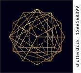 neon golden vector sketch of a...   Shutterstock .eps vector #1366568399