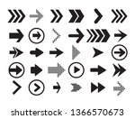 arrow vector collection cursor. ... | Shutterstock .eps vector #1366570673